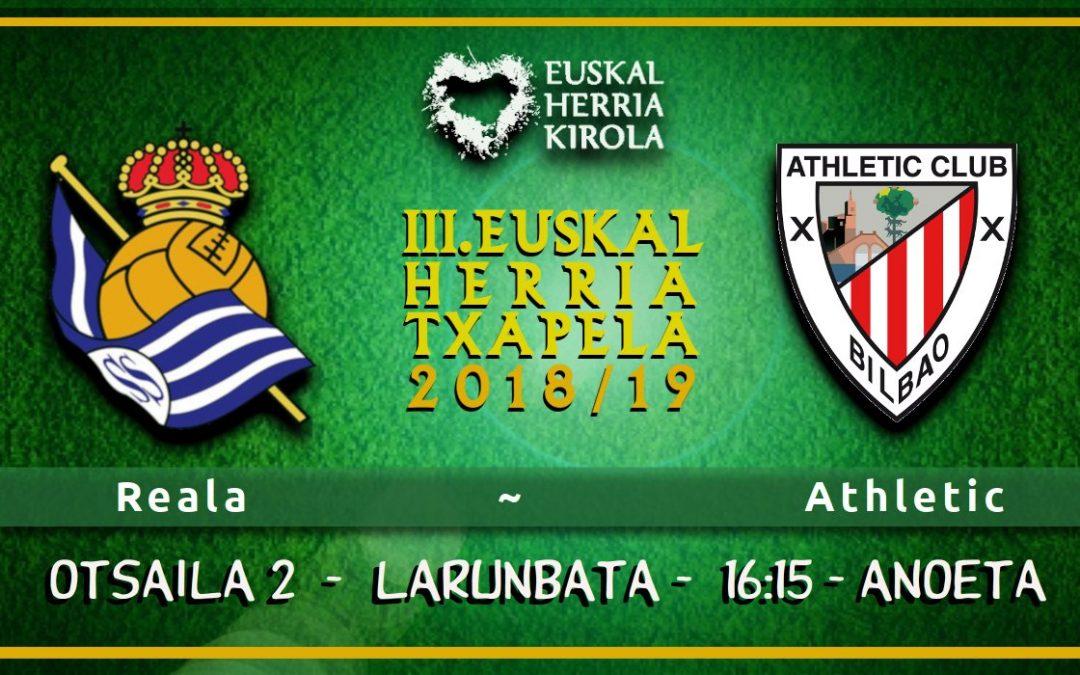 Reala – Athletic, otsailaren 2an