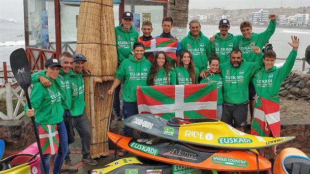 Kayak surfeko Euskal Selekzioa txapeldun, Peruko munduko txapelketan