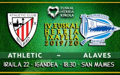 Athletic – Alaves, irailaren 22an