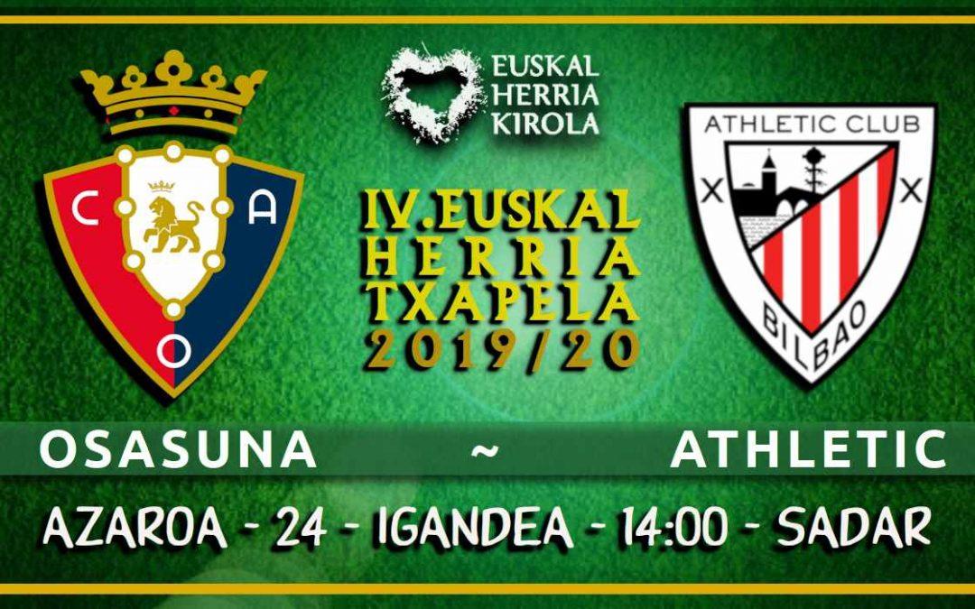 Osasuna – Athletic, igandean