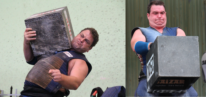 Inaxio Perurena eta Joseba Ostolaza 200 kiloko harri errektangularrarekin lehiatuko dira
