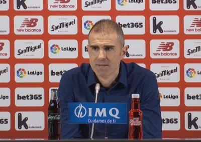 # G. Garitano: 'Norbait irabaztetik gertuago egon bada, hori Athletic izan da' [03:57 min]