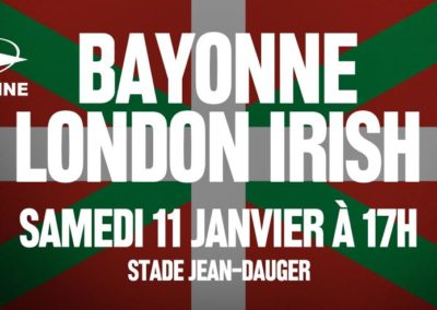 # BAYONNE – LONDON IRISH  Un match placé sous le signe du Pays Basque ! [0'44]
