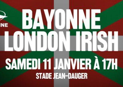 # BAYONNE – LONDON IRISH  Un match placé sous le signe du Pays Basque ! [0'44]