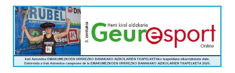 Geure Sport aldizkari digitalaren 3. alea