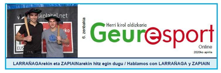 Geure Sport aldizkari digitalaren 6. alea