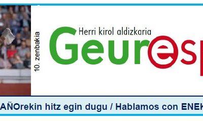Geure Sport aldizkari digitalaren 10. alea