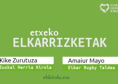 """[EHKirola] Etxeko ELKARRIZKETAK: Amaiur Mayo (15'26"""")"""