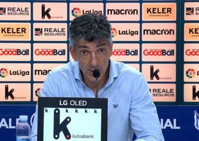 """[EiTB] Imanol Alguacil: """"Osasunak gora egingo du, ez daukat zalantzarik"""" (1'50"""")"""
