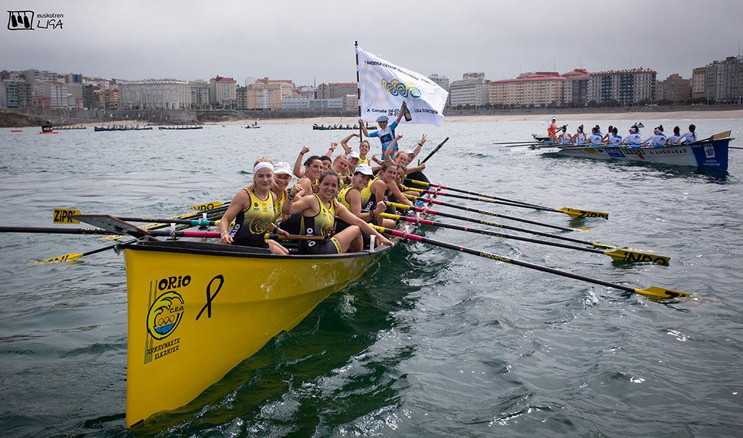Santurtzi eta Orio nagusitu dira Coruñan lehiatutako estropadan