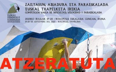 Atzeratu dira Euskal Herriko Eskalada Txapelketak