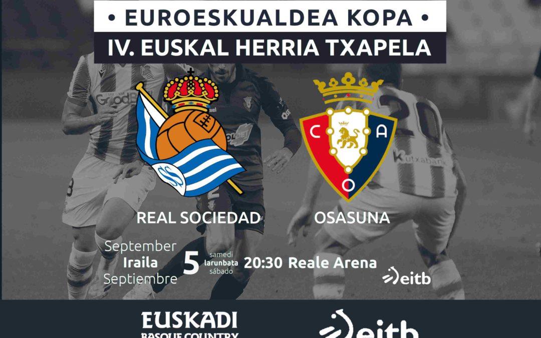 Real Sociedad – Osasuna irailaren 5ean, Txapela jokoan