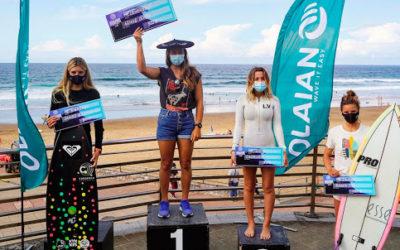 Ariane Otxoa eta Iker Trigueros, Euskadiko surf txapeldunak