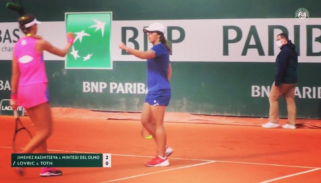 Ane Mintegi Roland Garros Junior txapelketatik kanpo geratu da