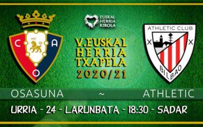 Osasuna-Athletic, larunbatean
