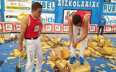 Suharri Rodriguez eta Jokin Urretabizkaia, Binakako Aizkolari Gazteen finalera