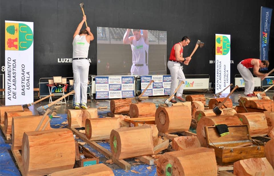 Oier Kañamares eta Alvaro Garciak 2. eta 3. mailako aizkolari finalak irabazi dituzte
