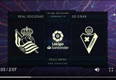 """[EiTB] Real Sociedad 1–1 Eibar partidako laburpena eta golak (2'07"""")"""