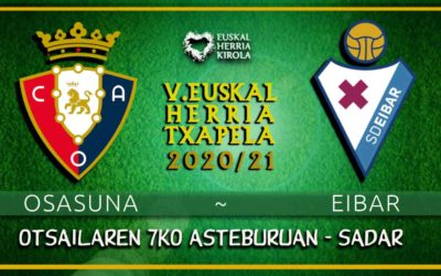 Hurrengo partida: Osasuna – Eibar