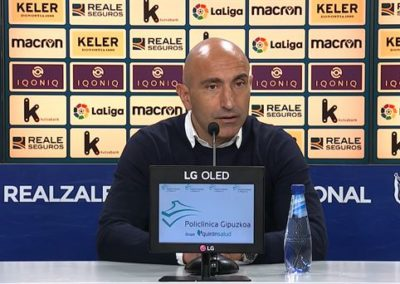 """[EiTB] Abelardo: """"Lehen golaren ostean partidatik desagertu gara, eta hori ezin da onartu"""" (1'48"""")"""