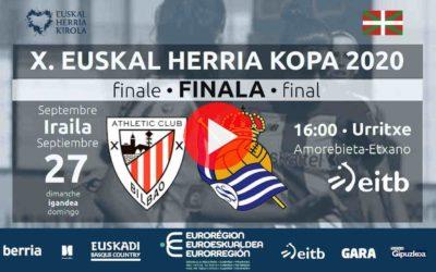 X. Euskal Herria Kopako finala, zuzenean