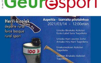 Geure Sport herri kirol aldizkariaren 26. alea