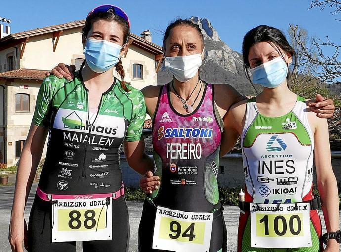 Ander Noain eta Inma Pereirok irabazi dute Arbizuko duatloia
