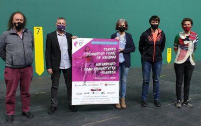 Emakumezkoen pilotako lehen Nafarroako Foru Komunitatea txapelketa aurkeztu dute