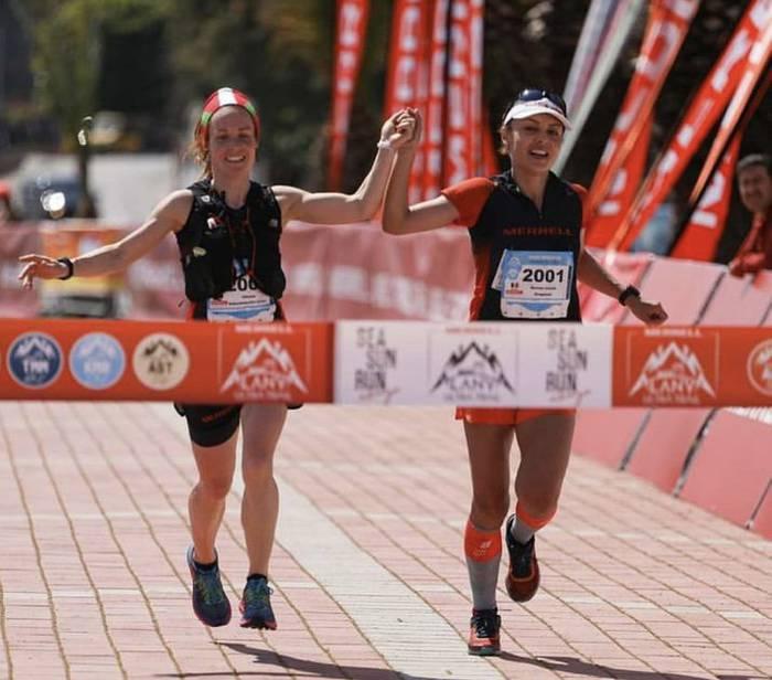 Oihana Azkorbebeitia bigarren Keykubat Mountain Run mendi lasterketan, Turkian