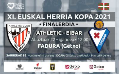 [Finalerdiak] Athletic-Eibar, abuztuaren 22an
