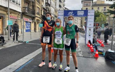 Arrate Mintegi eta Iker Ortiz de Zaratek irabazi dute Durangoko XIII. Duatloia